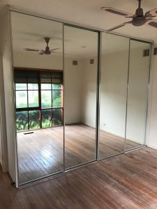 Sliding Glass Mirror Wardrobe